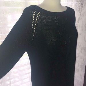 JET BLACK SWEATER SZ XL PERFECT CONDITION